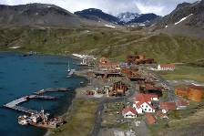looking over the old Grytviken whaling station