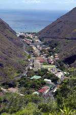 the town of Jamestown on St Helena Island