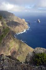 spectacular coastal cliffs on St Helena