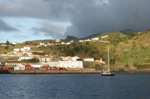 Wandering Albatross moored in Lajes harbour